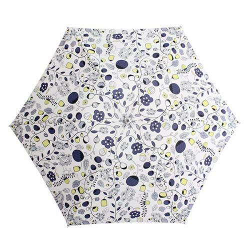 北欧デザイン Korko(コルコ)クイックオープン折りたたみ晴雨兼用日傘 50cm /『My beloved garden』