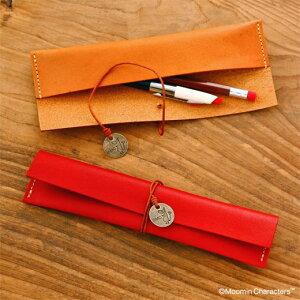 日本製 ムーミン MOOMIN ムーミンシリーズ レザーペンケース 筆箱 専用クラフトボックス入り 革 ムーミングッズ ムーミン雑貨 ミイ 北欧 おしゃれ プレゼント お祝い 誕生日