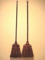 和歌山・海南市・伝統手工芸品/棕櫚(シュロ)125cmの最高級鬼毛長柄ほうき・鬼毛箒長柄9玉|アレルギー対策|掃除|エコ|特価|シュロほうき|棕櫚ほうき|シュロたわし|伝統工芸品|箒|ホウキ|束子|職人|手作り