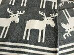 クリッパンKlippan/ヘラジカ(Moose)/コットン・ブランケット/グリーン【北欧雑貨】【コットンミニブランケット】