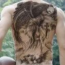 タトゥーシール 背中用 死神 リーパー 特大版 刺青 入れ墨 文身 tattoo 送料無料 1P