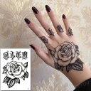 タトゥーシール フェイクタトゥー アメリカン 薔薇 ローズ オールドイングリッシュ 手 手の甲 シンプル 可愛い ファッションシール 刺青 入れ墨 文身 tattoo 送料無料・・・