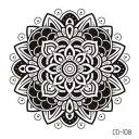 タトゥーシール フェイクタトゥー 曼荼羅 手 手の甲 白黒 シンプル 可愛い ファッションシール 刺青 入れ墨 文身 tattoo 送料無料