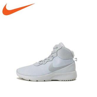 ★ 16 何耐克 (Nike) 運動鞋鞋婦女婦女丹絨高冬季白色 861672