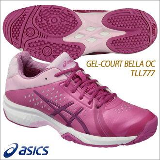 [郵費免費!]asics[亞瑟士]網球鞋·軟式網球鞋、GEL-COURT BELLA OC(凝膠大衣貝拉)[女士:女性事情][全大衣·紅土網球場用][脚寬度:女性:標準][TLL777][郵費免費][smtb-MS][0113_flash]