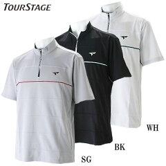 ツアーステージ ゴルフウェア メンズ 半袖ハーフジップシャツ XTM39A 2014春夏