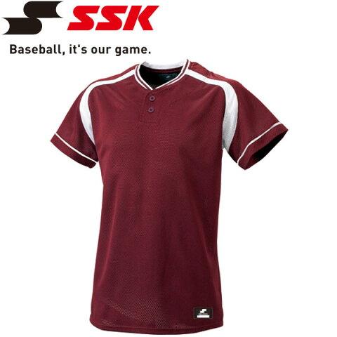 【2枚までメール便送料無料】エスエスケイ SSK 野球 2ボタンプレゲームシャツ メンズ・ユニセックス BW2200-2210