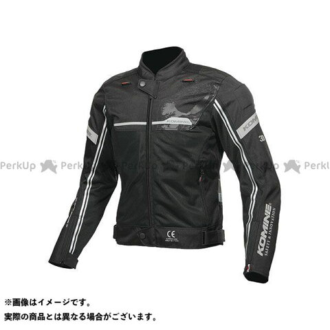 【無料雑誌付き】コミネ 2019年春夏モデル JK-133 エアストリームメッシュジャケット(ブラック) サイズ:5XLB KOMINE