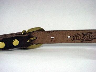 送料無料 VIN&AGE ヴィンアンドエイジ ツーリングギア・その他ツーリング用品 VB3A スタッズベルト BULLET ブラック革 極細幅/20mm ゴールド 32インチ