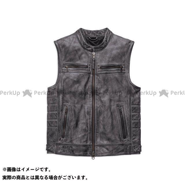 ハーレーダビッドソン レザーベスト/Veer Distressed LeatherVest XL HARLEY-DAVIDSON