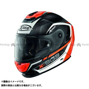 X-lite X-903 Ultra Carbon Cavalcade N-Com Helmet(ホワイト-ブラック-レッド)X9U000367010 サイズ:XXS エックスライト