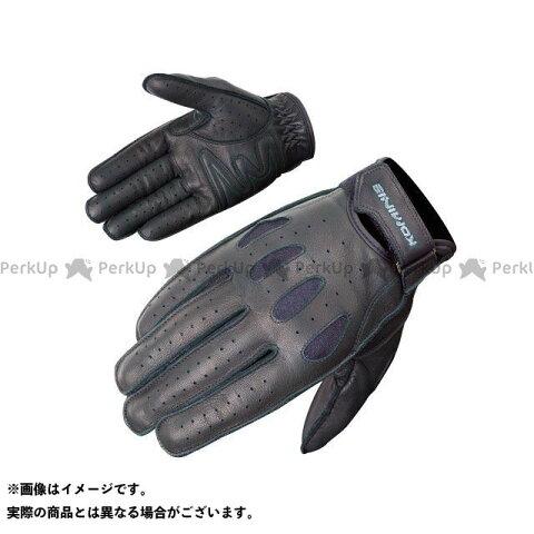 コミネ GK-161 ヴィンテージショートレザーグローブ カラー:ブラック サイズ:M メーカー在庫あり KOMINE