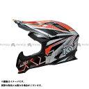 送料無料 KYT ケーワイティー オフロードヘルメット STRIKE EAGLE ストライプ レッド フロー XXL/63cm