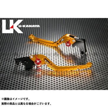 ユーカナヤ CB1000スーパーフォア(CB1000SF) レバー GPタイプ アルミ削り出しビレットレバー(レバーカラー:ゴールド) ブルー
