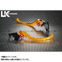 【無料雑誌付き】ユーカナヤ Z750 ツーリングタイプ アルミ削り出しビレットレバー(レバーカラー:ゴールド) カラー:調整アジャスター:オレンジ U-KANAYA