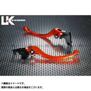 ユーカナヤ ムルティストラーダ620 レバー ツーリングタイプ アルミ削り出しビレットレバー(レバーカラー:オレンジ) 調整アジャスター:ブラック