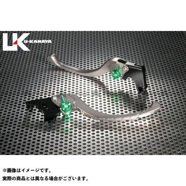ユーカナヤ ストリートファイター848 レバー ツーリングタイプ アルミ削り出しビレットレバー(レバーカラー:チタン) 調整アジャスター:グリーン
