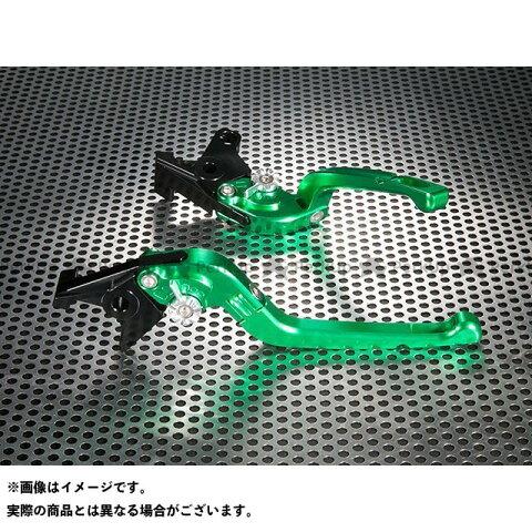 ユーカナヤ TMAX500 Rタイプ 可倒式 アルミ削り出しビレットレバー(レバーカラー:グリーン) カラー:調整アジャスター:グリーン U-KANAYA