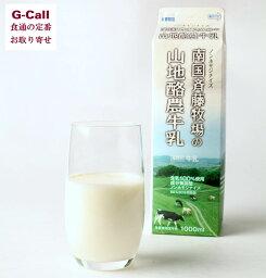 南国斉藤牧場 山地酪農牛乳 1L 3本 高知 牧草牛 グラスフェッド ノンホモジナイズ 低温殺菌乳