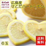 送料無料 大阪市中央市場 万果 広島産 せとだハートレモン 6玉 国産/お取り寄せ/くだもの/柑橘/檸檬