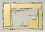 中澤愼一、Courtyard3、版画/銅版画、金箔