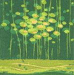朴再英、みどりいろのゆめ、版画/水性木版画