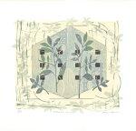 白駒一樹、Botanicalhouse(s)、版画/油性木版シルクスクリーン