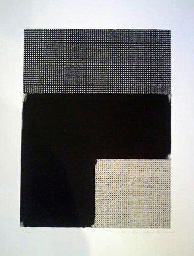 坪田政彦、点・境・描-10、版画/リトグラフ・シルクスクリーン