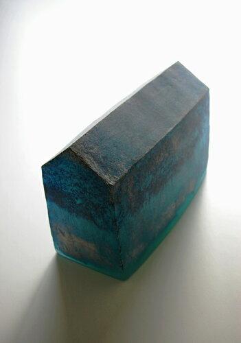 【ガラス彫刻】オブジェ/キャストガラス扇田克也OGFA-03HOUSE現代アートオブジェ送料無料
