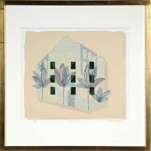 版画/油性木版・シルクスクリーン白駒一樹House-2モダンアート送料無料※この商品を大幅値引き表示している偽サイトがありますのでご注意下さい。