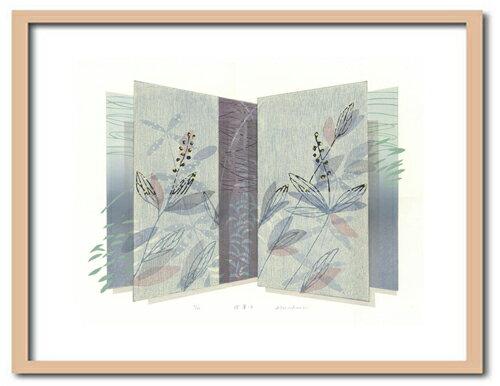 版画/油性木版シルクスクリーン白駒一樹摺葉-2モダンアート送料無料※この商品を大幅値引き表示している偽サイトがありますのでご注意下さい。
