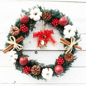プリザーブドフラワーで作ったクリスマスリース 【gentei】直径約35cm