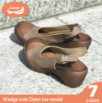 Canoe canoe wedge sole opening toe sandals / Lady's /WH106/ リゲッタ /fs3gm