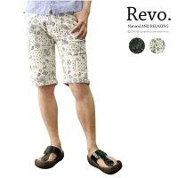 【Revo.】レボコットンペイズリー柄ショートパンツ/ブラック,ナチュラル/メンズ2011春夏新作