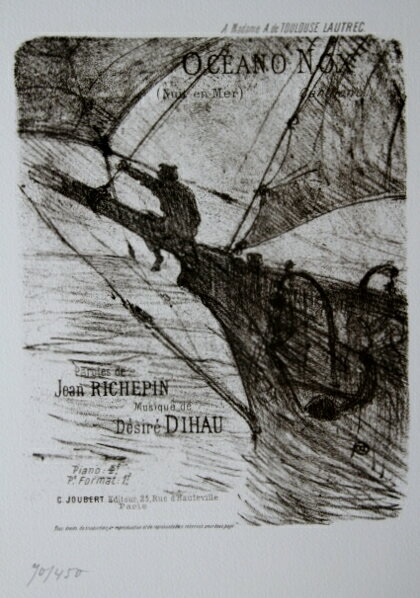 版画 ロートレック ocean nox オーシャン ノック1978年  オリジナルリトグラフ:ギャラリーモダーン