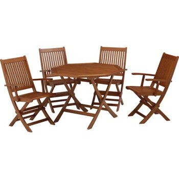 ガーデンオクタゴナルテーブル5点セットアーム付MWF-01