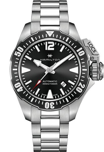 【メーカー取り寄せ】【ノベルティプレゼント】HAMILTON ハミルトン KHAKI NAVY(カーキー ネイビー) OPEN WATER AUTO (オープン ウォーター オート) H77605135 【時計 腕時計】