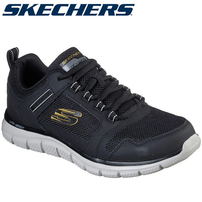 ○20SS SKECHERS(スケッチャーズ) TRACK - KNOCKHILL 232001-BKGD メンズシューズ画像