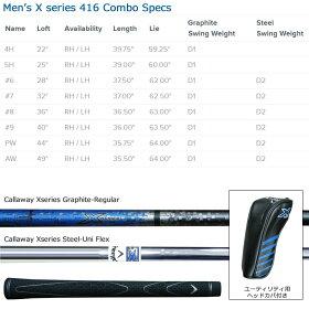 【スパークセール】US直行便キャロウェイN416コンボ8本セットユーティリティ+アイアンカーボンシャフト日本未発売品【対応】