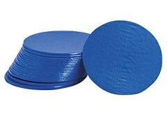 自作カスタムIEM プラスティックカバープレート 1枚(青) 口径サイズ40mm(メール便可)