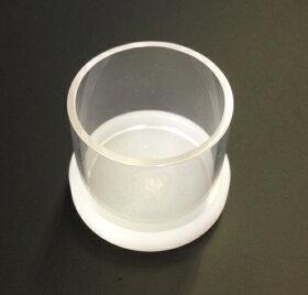 自作カスタムIEMシリコン型取用透明カフとベース(白色の枠土台)(メール便不可X)