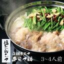 【野菜付き】【塩とんこつ】博多もつ鍋 がばい 牛もつ鍋セット