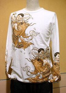◆◆ド迫力の和柄を超えた刺青【入墨】ロングTシャツ!◆◆ S~XL(LL)大きいサイズまで揃っ...