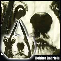 【キャバリア 顔 ぁあっぷっっ】トートバッグ 犬 プリント 布バッグ サイドポケット付き/バッグ カバン[Robber Gabriela]