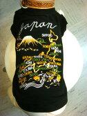 ≪犬用刺繍Tシャツ≫ ダックスS 【日本地図/龍】和柄・スカジャン柄・犬 服・犬 洋服