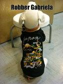 ≪犬用刺繍Tシャツ≫ XL 【日本地図/龍】和柄・スカジャン柄・犬 服・犬 洋服