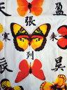 work 和柄Tシャツ蝶