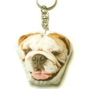 キーホルダー67ブルドッグ【犬ドッグプリントキーリング雑貨グッズかわいい通販】【動物祭り】