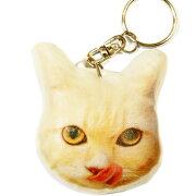 キーホルダー猫62白シロ【ねこネコプリントキーリング雑貨グッズかわいい通販】【動物祭り】