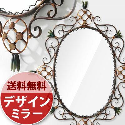 ミラー 鏡 メイク 壁掛け アンティーク デザイン 壁掛けミラー 楕円 壁掛け鏡 壁掛 壁...